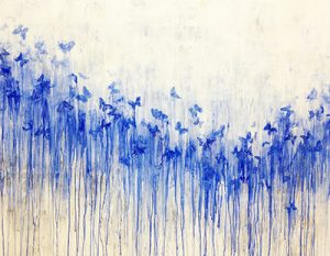 Hiroko Otake Floating Instant - vol. 2, 2013 rock pigments and silver leaf on paper